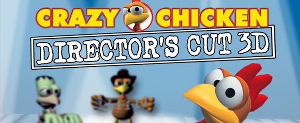 Crazy Chicken Dir Cut 3D Banner