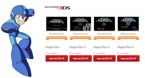 Mega Man eShop Sale