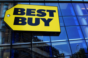 FILE: Best Buy Shares Tumble After Holiday Earnings Report Best Buy Posts First Quarterly Profit In A Year
